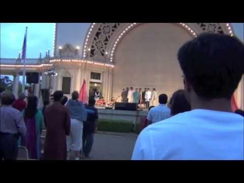 Happy Diwali 2012 from Balboa Park - Indian National Anthem