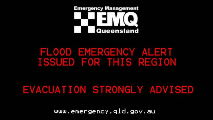 Australia's Emergency Alert System from the 2011 Queensland floods.