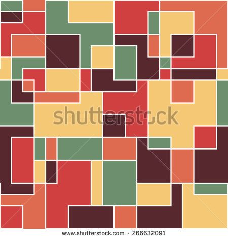 Modern seamless pattern with colorful squares and rectangles. #geometricpattern #vectorpattern #patterndesign #seamlesspattern