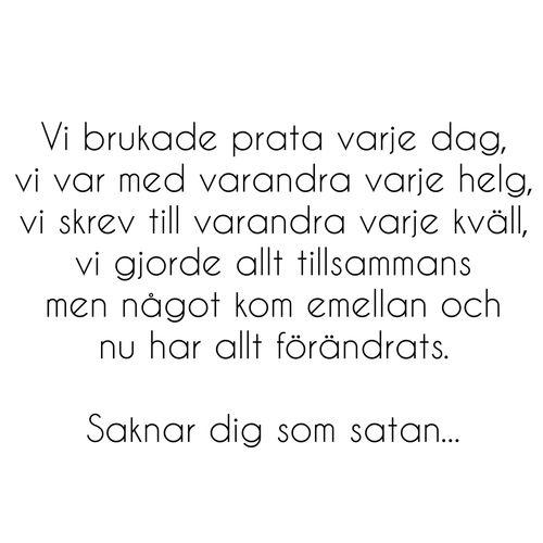 #swedish - saknar dig #quote