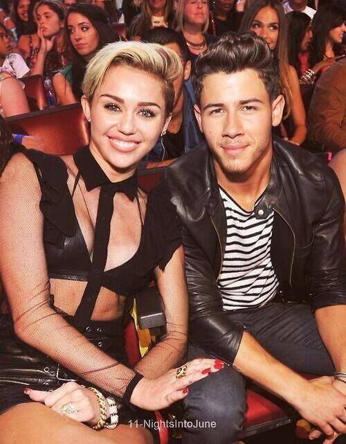Nick Jonas with Pre-Crackup Miley Cyrus<<pinning for that comment lol