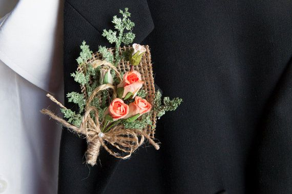 Rustic chic wedding coral by lechoixdelamariee on Etsy