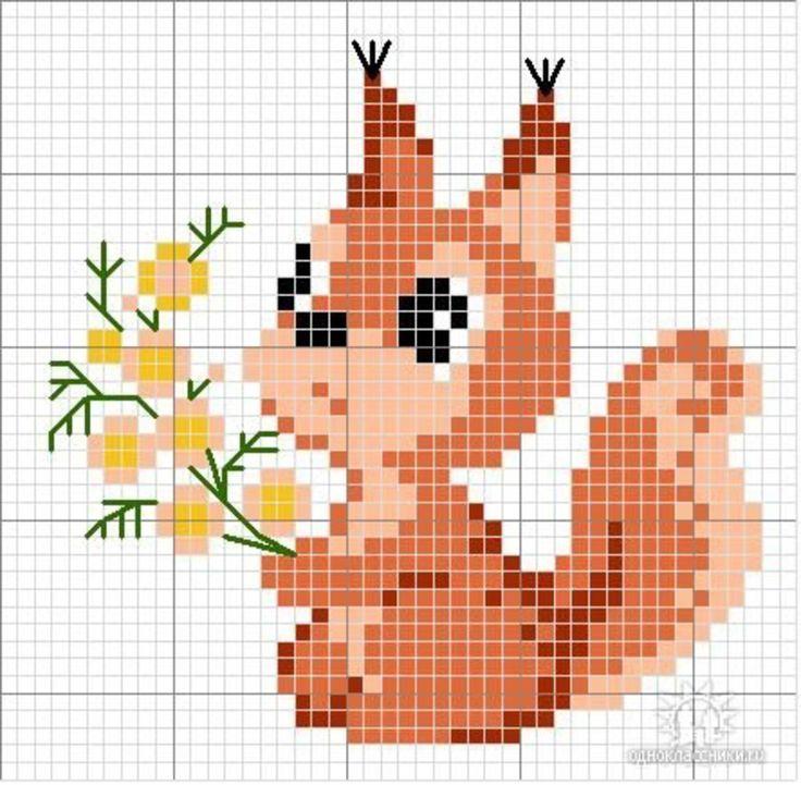 Схемы вышивок крестом маленькие картинки животных
