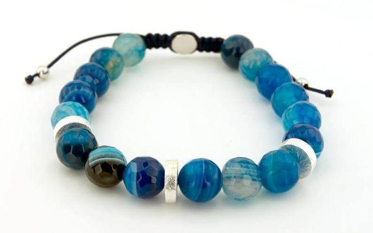 Blue Agatha Stone Bracelet,https://www.imperastraps.com