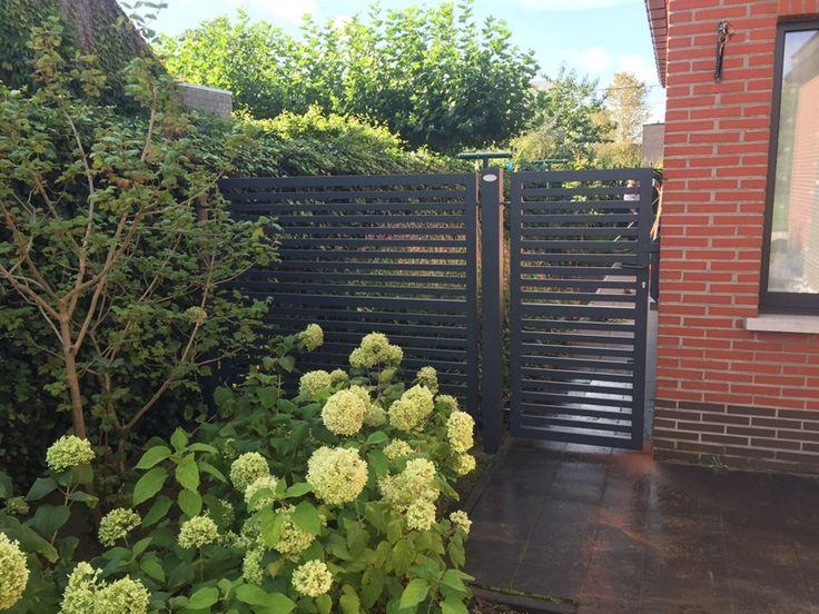 Aluminium tuinpoort met vast hek Glenfiddich   Metallooks