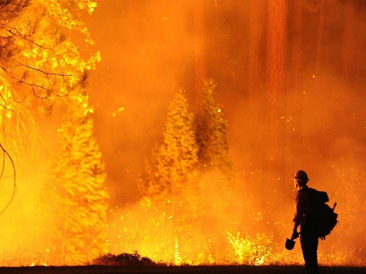 firefighters fighting to save Yosemite tonight