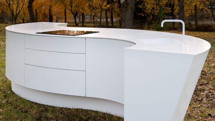 HI-MACS | Maru Kitchen | Outdoor Kitchen by DODK #Kitchen #Furniture #SolidSurface