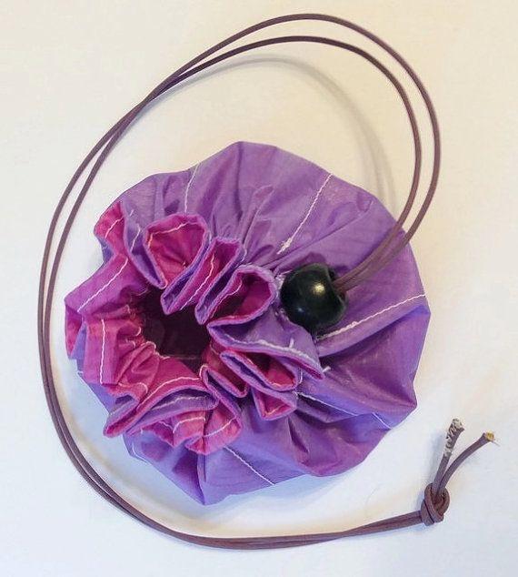 Bolsa de viaje de la joyería, bolso de lazo, bolsillo 8, lavanda reciclado bolsa, reciclado caja de parapentes, organizador de la joyería, joyería