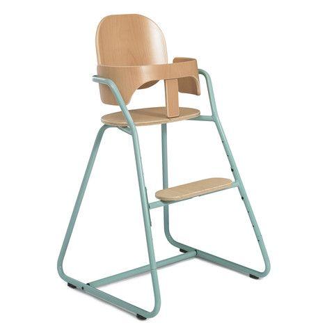 Chaise Haute évolutive Bébé design TIBU Bleue avec Baby Set