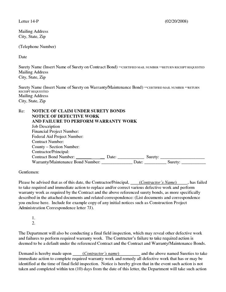 claim how write notice letter jpeg construction manual connect - claims letter