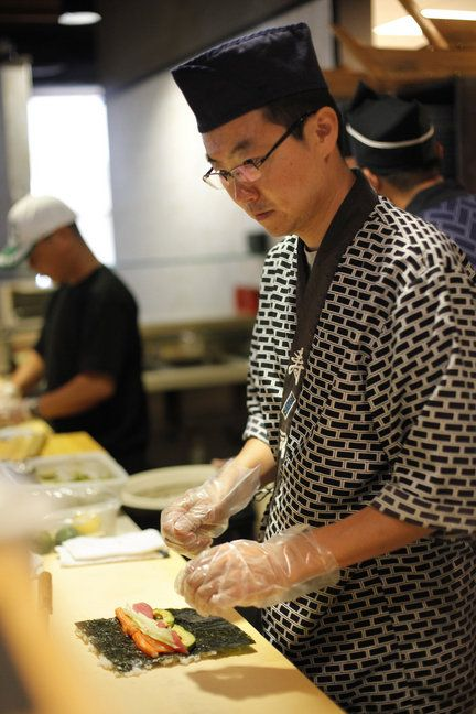 Traditionally, a sushi chef or itamae trains for 10 years before serving this Japanese food in a restaurant.