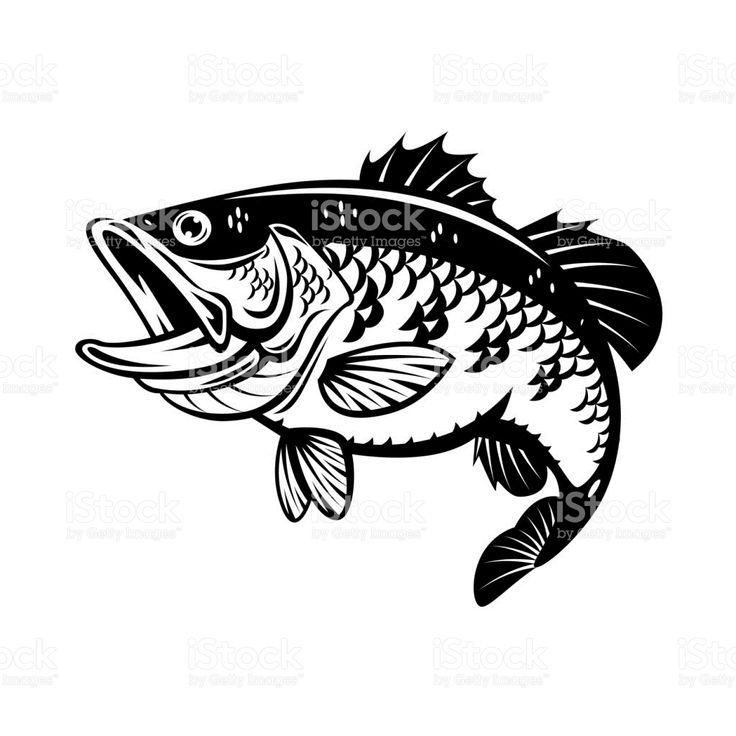 EPS 10 Fish vector, Fish silhouette, Vector illustration
