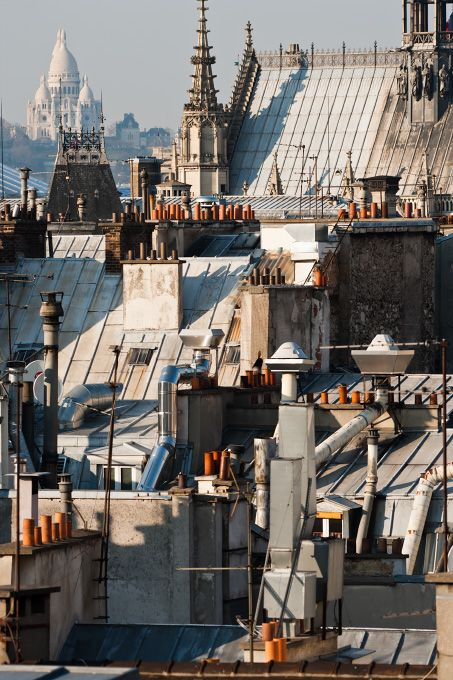 Le Sacré Coeur et les toits de Paris