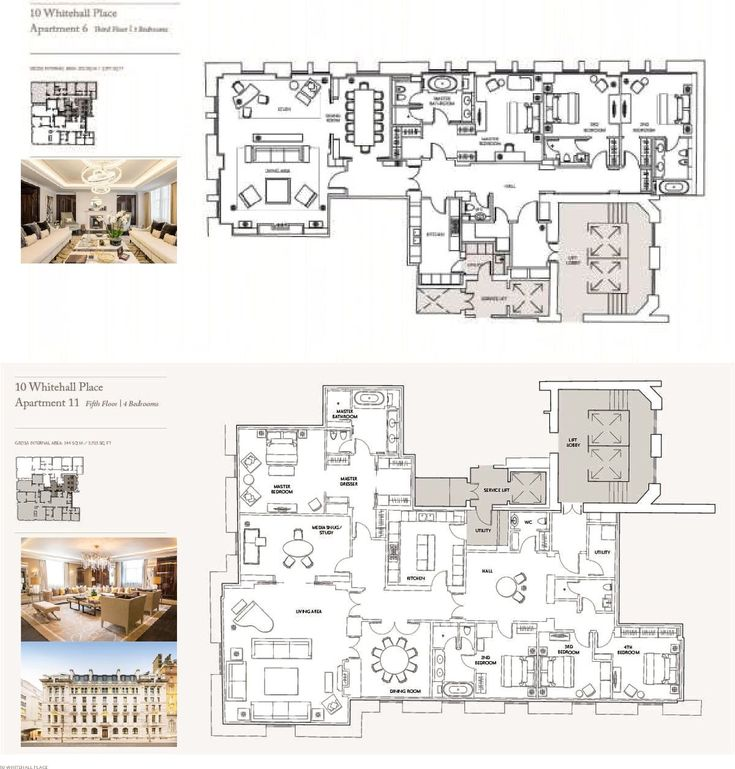 The Corinthia Residences, 10 Whitehall Place, London, SW1A  ・Floorplan for 4 bedroom flat for sale in The Corinthia Residences, 10 Whitehall Place, London, W1A - £12,250,000 ・Floorplan for 3 bedroom flat for sale in The Corinthia Residences, 10 Whitehall Place, London, SW1A - £11,425,000