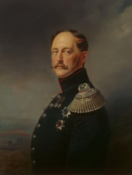 Tsar Nicholas I of Russia-The Russian ruler died of pneumonia on March 2nd, 1855. Nicholas's last words to Alexander were to say that he had wanted to leave his son a happy, well-ordered realm, but providence had decided otherwise. 'Now I go to pray for Russia,' the dying man said, 'and for you all. After Russia I loved you more than anything else in the world. Serve Russia.'