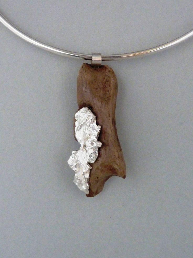 driftwood and silver casted in water  - entrenous by LE NOEUD - www.enbyln.com