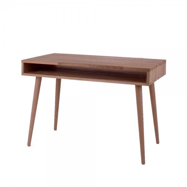 New York skrivebord i massiv eg. Dansk produceret i nordisk design.