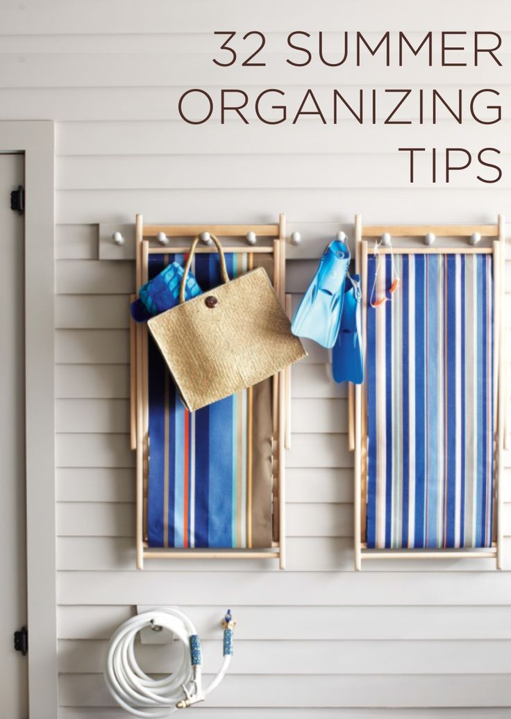 32 #Summer #Organizing tips from @Martha Stewart Living  #DIY #affordableBeach Chairs, Outdoor Beach, Organic, Beach House, Outdoor Living, Outdoor Dry, Martha Stewart, Beach Dry, Dry Railings