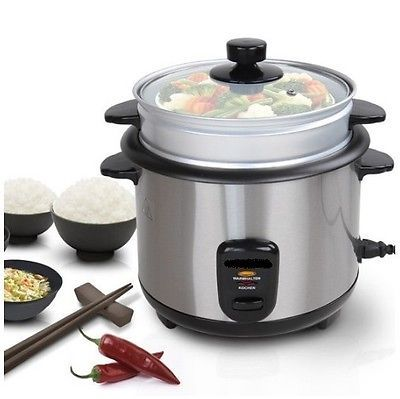 Rice cooker #delicious asian food #tasty cook stainless steel 4 litre #silver 500,  View more on the LINK: 	http://www.zeppy.io/product/gb/2/142124999871/