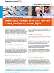 International Relations and Politics in the EU  #studyabroad #travel #europe #CES #CESMaastricht #Maastrichtuniversity #exchangeConflicts and Human Rights