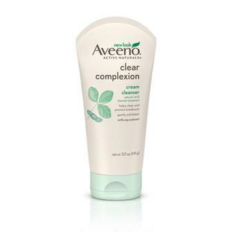 AVEENO® CLEAR COMPLEXION Cream Cleanser. This is oil free! Esthetician recommends oil free products for acne prone skin.