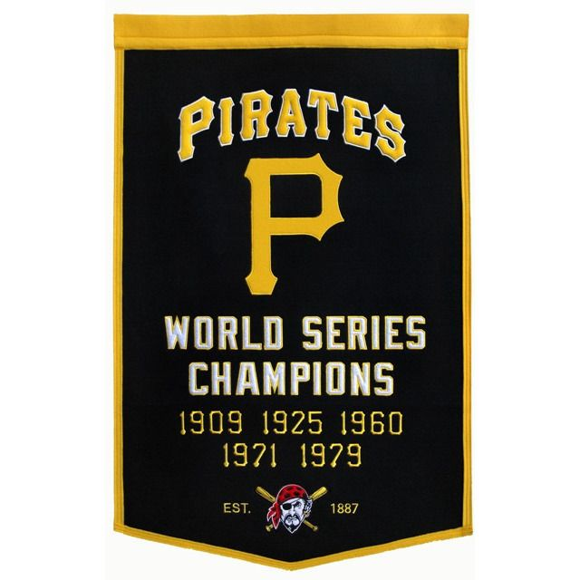 Pittsburgh Pirates Vintage Wool Dynasty Banner With Cafe Rod