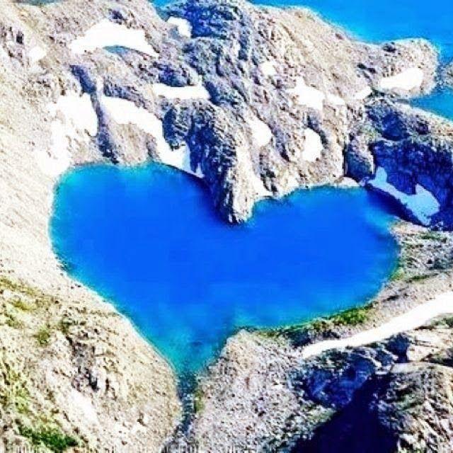 Heart Lake Pupuke, Aukland New Zealand #heart #lake #newzealand #blue #nature