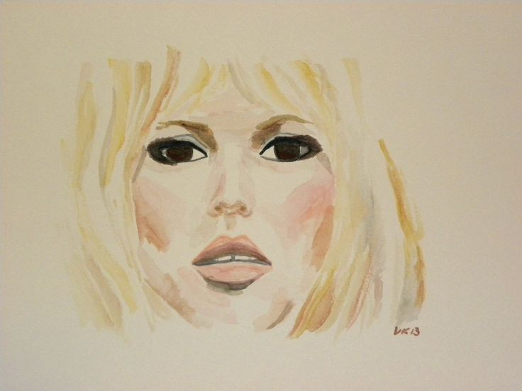 The one and only.. Sweet Brigitte Bardot. I would like the express such beauty, strength and independency myself. #brigittebardot #bardot #brigitte #moviestars #classics #woman #watercolor #finland #finnishart #france