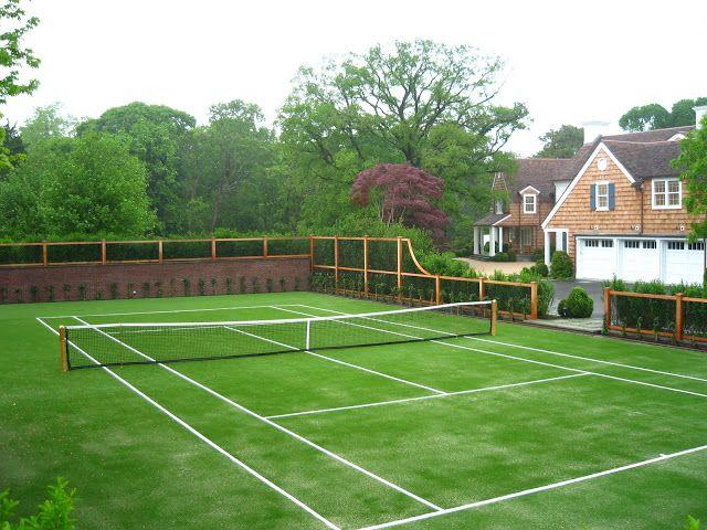 The enchanted grass tennis court.
