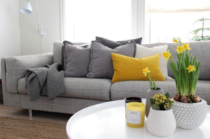 Via Antons Home   Grey and Yellow