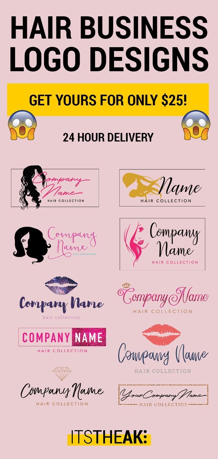Hair Extension Business Premade Logo Designs Graphic