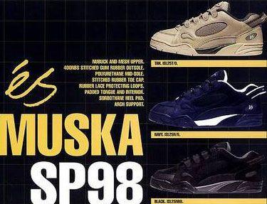 Old Muska Skate Shoe Add for es