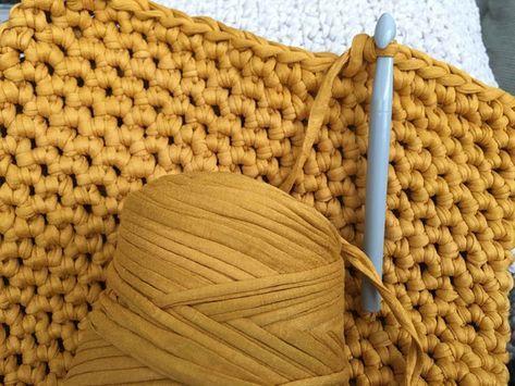Großes Häkel Kissen Aus Textilgarn Fe