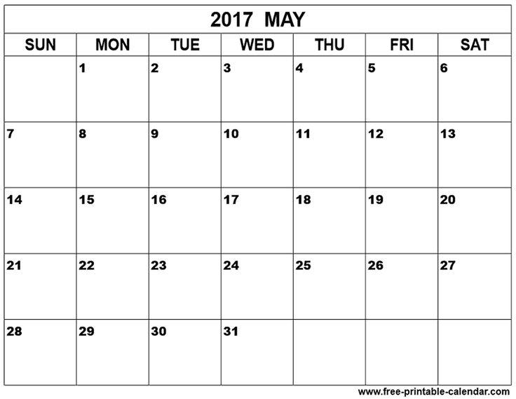 may 2017 calendar printable