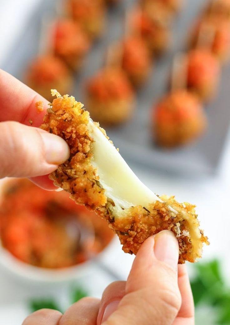 fromage pané - recette avec mozzarella - boulettes pour apéro et snack sain