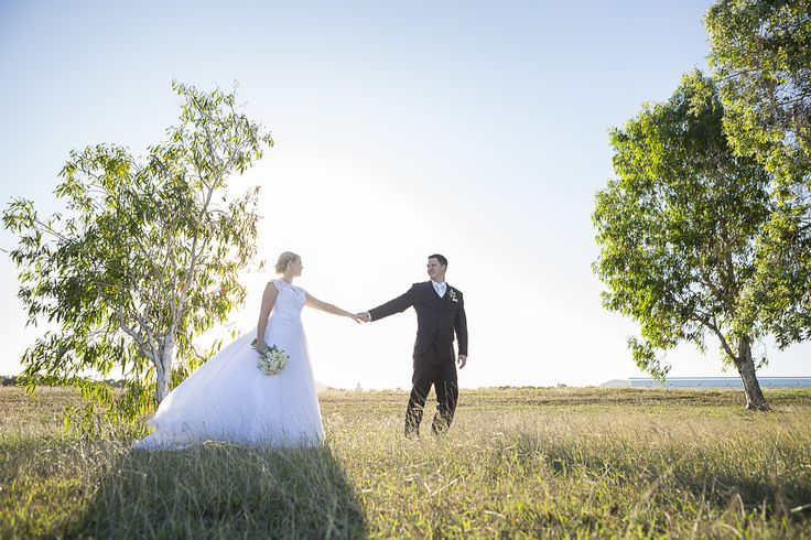A stunning bride and groom on their wedding shoot in Townsville, North Queensland