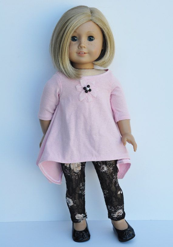 American Girls Clothes  PInk Twirly top by LoriLizGirlsandDolls, $24.00