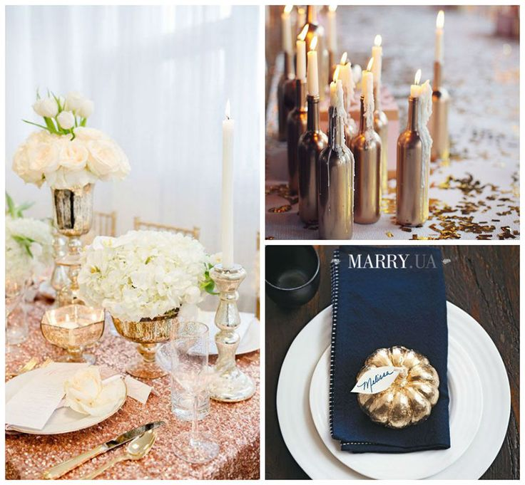 Gold wedding decoration, ideas inspiration