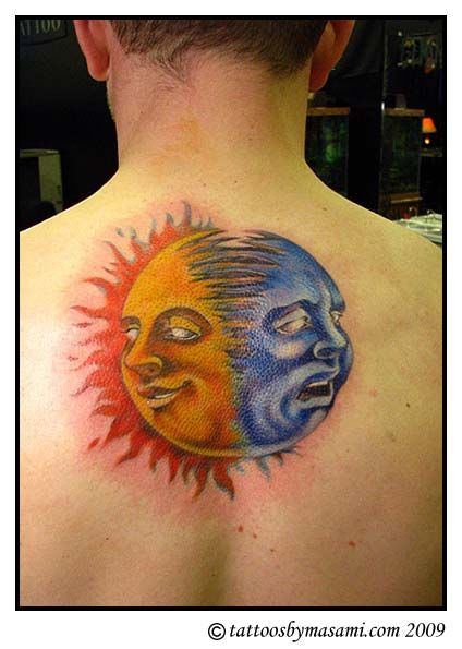 Image Result For Sun And The Moon Tattoos