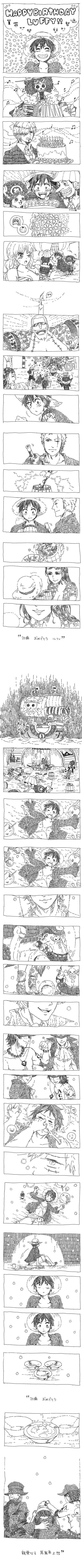 One Piece | awwwwwwww Happy birthday Luffy