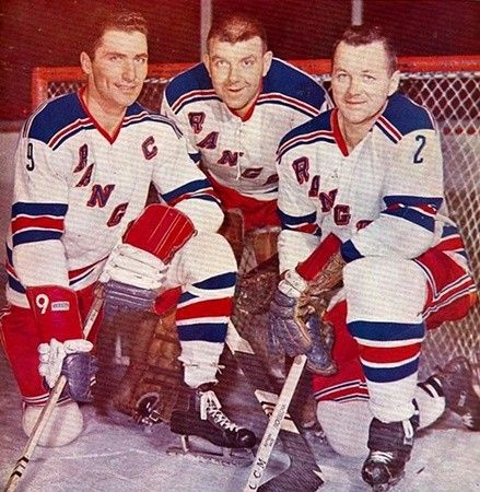 Andy Bathgate, Gump Worsley & Doug Harvey - NY Rangers