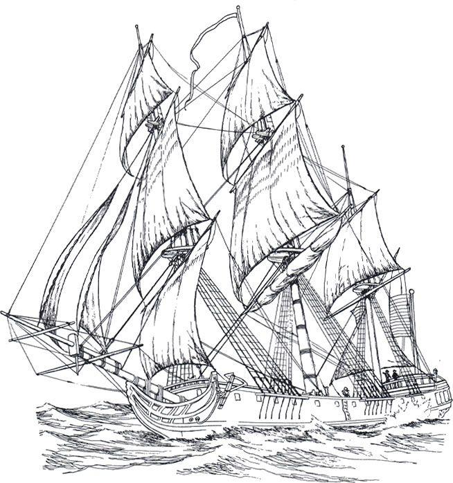 картинки корабли на печать для трафарета
