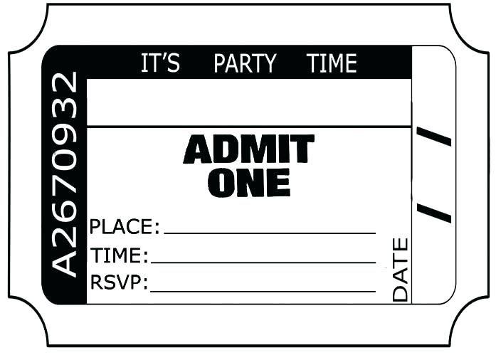 Movie Ticket Birthday Party Invitations Admit One Ticket Invitation Template Ci Birthday Party Invitation Templates Party Invitations Diy Party Invite Template