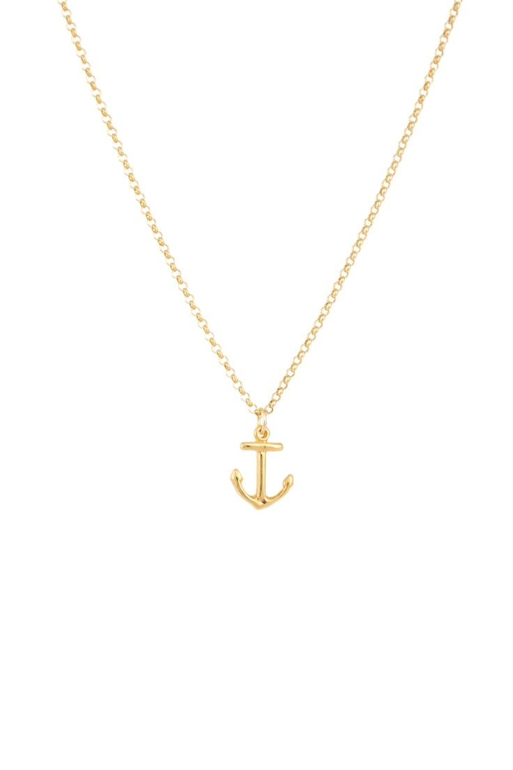 MOANINA CLIFTON Anchor Necklace 925 Sterling Silver Gold Plated   Anker Kette Sterling Silber Vergoldet ♡