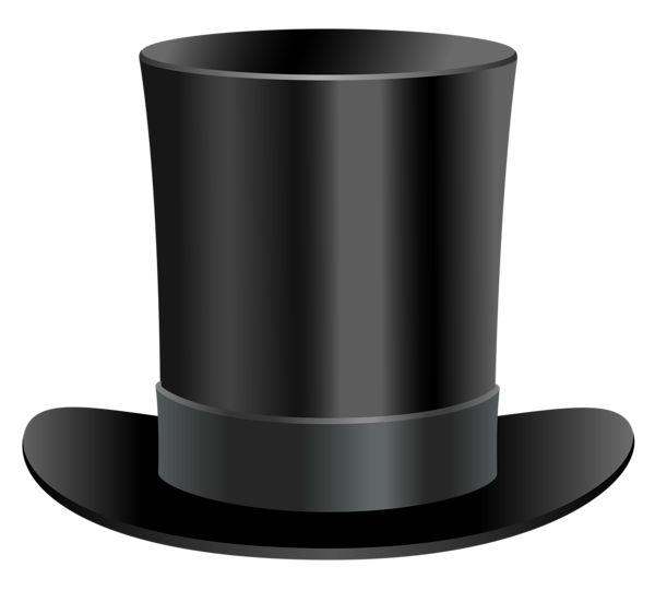 Black Top Hat PNG Clipart