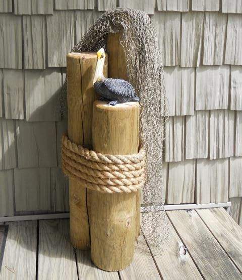 Wood Pilings With Rope And Net I D Like This By My Front