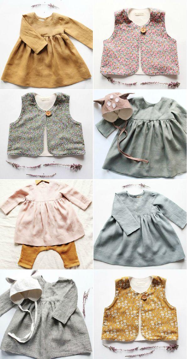 Beautiful Handmade Linen & Liberty Print Baby & Toddler Clothing | BloomingKiwi on Etsy