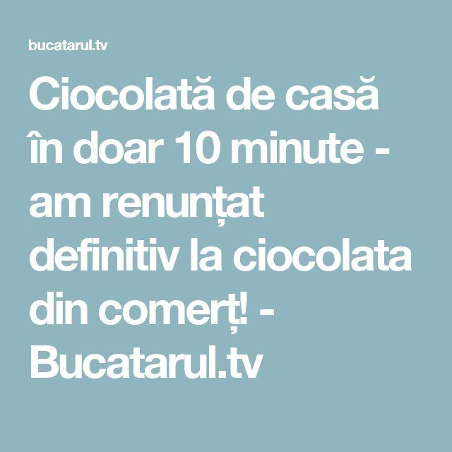 Ciocolată de casă în doar 10 minute - am renunțat definitiv la ciocolata din comerț! - Bucatarul.tv