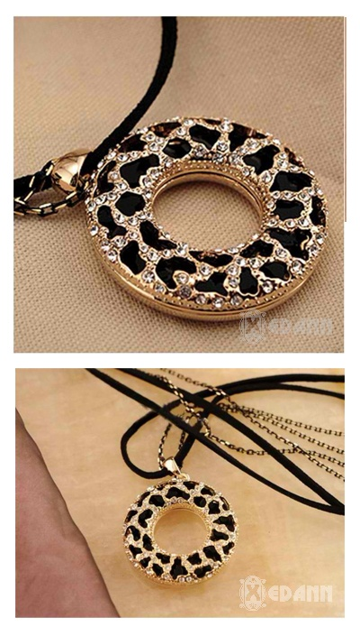 Cheetah Animal Print Pendant Necklace - Php 230