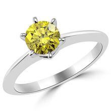 Canary Yellow Diamond Solitaire 6-Prong Engagement Bridal Ring